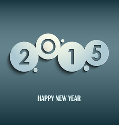 Abstract blue New Years wishes rounds template vector image