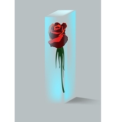 Rose and crystal vector