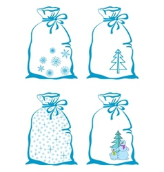 christmas bags vector image