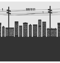 Silhouette city vector