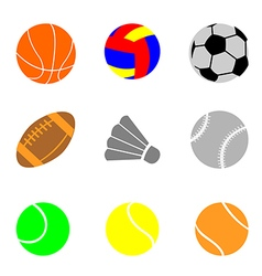 Icons with elements of sports balls vector