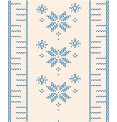 Ornamental pattern for knitting vector