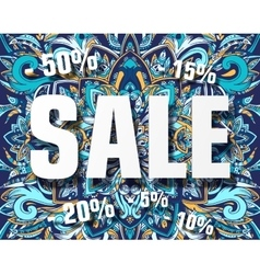Typographic sale on creative abstract art vector