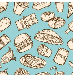 FOOD SEAMLESS PATTERN vector image
