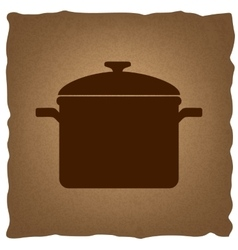 Cooking pan sign vector image
