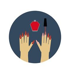 Manicure nail polish vector