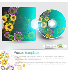 Cover design template of disk Floral Design vector image