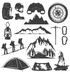 Mountain Climbing Decorative Icons Set vector image