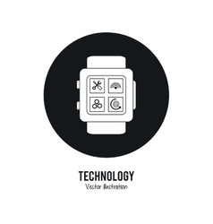Watch icon internet of things design vector