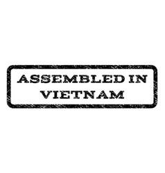 Assembled in vietnam watermark stamp vector