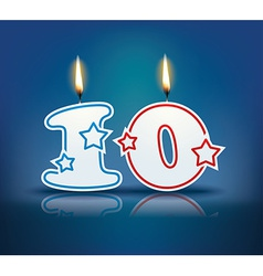 Birthday candle number 10 vector