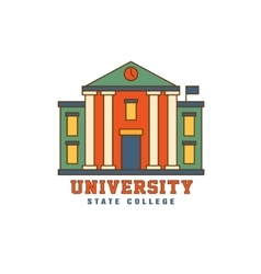 Building with pillars university logo vector