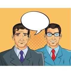 businessman pop art comic design vector image