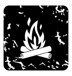 Campfire icon grunge style vector