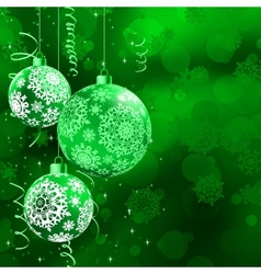Christmas bokeh background with baubles EPS 10 vector image vector image