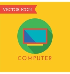 Computer icon logo shop money or commerce vector