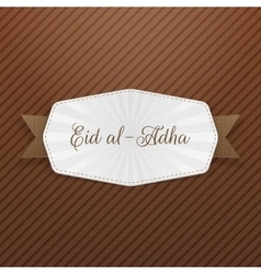 Eid al-adha tag with text vector