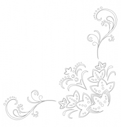 Flower clipart vector image vector image