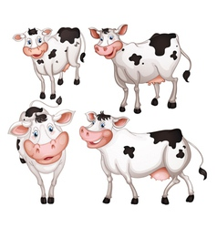 four cows vector image