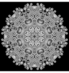 geometric doily pattern vector image