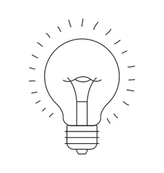 Isolated light bulb draw design vector