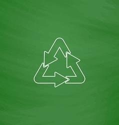 Recycle computer symbol vector