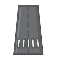 road filled outline icon asphalt and traffic vector image