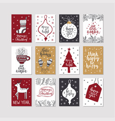 Set of christmas posters vector