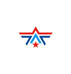 star line business logo vector image vector image
