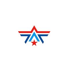 star line business logo vector image