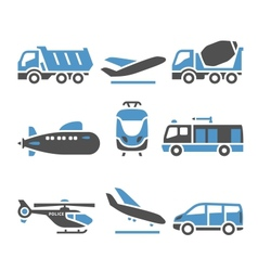 Transport Icons - A set of eleventh vector image vector image