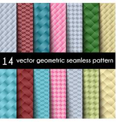 Wallpaper set geometric seamless background vector