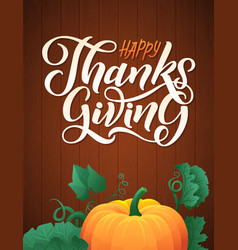 with pumpkins on wood vector image