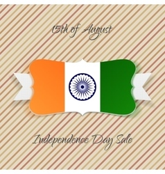 India independence day festive emblem vector