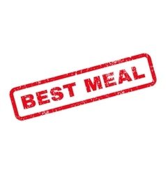 Best meal text rubber stamp vector