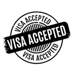 Visa accepted rubber stamp vector