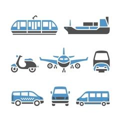 Transport icons - a set of ninth vector