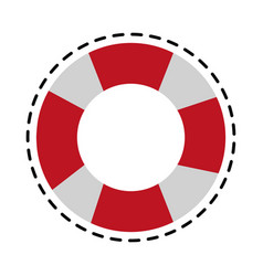 life preserver icon image vector image