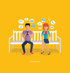 Internet addiction disorder technology vector