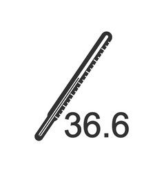 Black icon on white background body thermometer vector