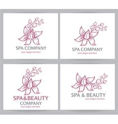 Logo spa company vector