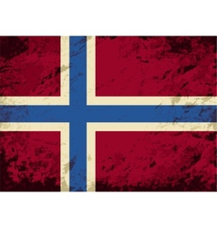 Norwegian flag grunge background vector