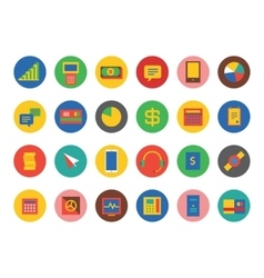 E-commerce icons set shop money or vector