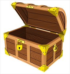 Wooden chest vector