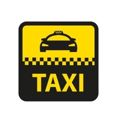 Taxi icon taxi car sign vector