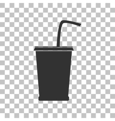 Drink sign  dark gray icon on vector