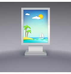 Advertising stand with summer vacation vector