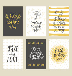 autumn seasonal stickers and gift tags vector image vector image