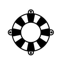 black silhouette of flotation hoop vector image
