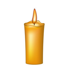 burning wax candle vector image